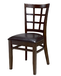 N-C6016 Grid Back Wooden Kitchen Chairs