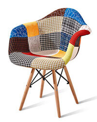 PP05 Eames Chair patchwork fabric