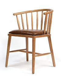 Low Back Windsor Armchair with Fabric Seat