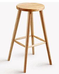 Model N-B003 Backless Wooden Bar Stool