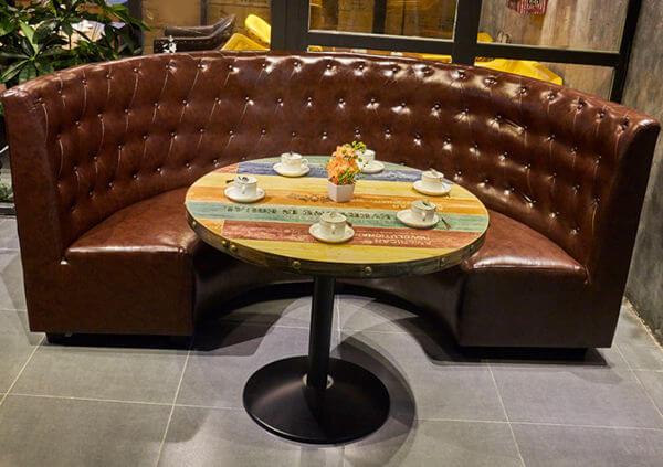 Curved Restaurant Bench