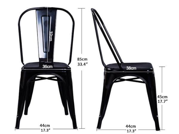 Tolix Chair Dimension